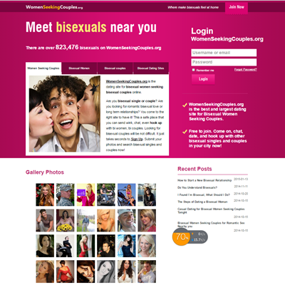Bisexual women seeking couples